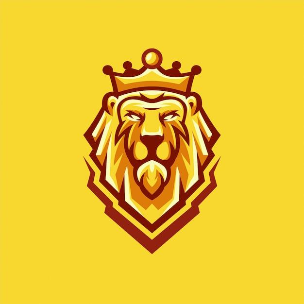 Disegni logo lion Vettore Premium