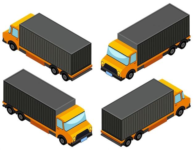 Disegno 3d per camion giallo camion scaricare vettori gratis for Disegno 3d gratis