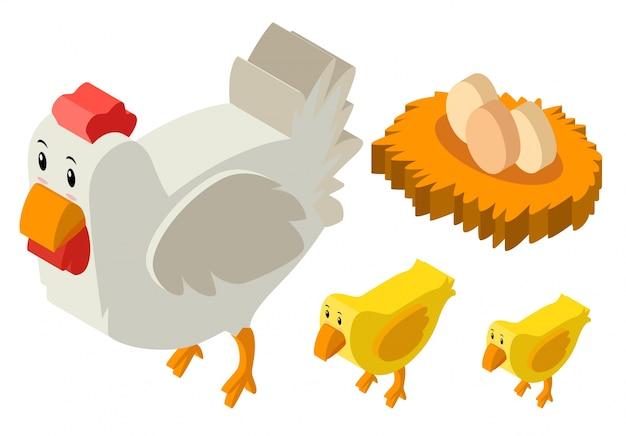 Disegno 3d per galline e uova scaricare vettori gratis for Disegno 3d gratis