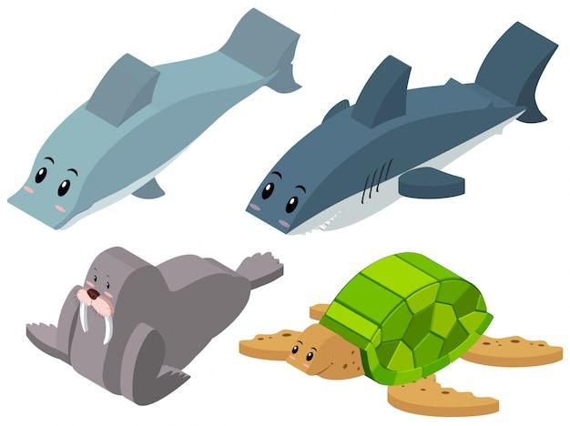 Disegno 3d per gli animali del mare scaricare vettori gratis for Disegno 3d gratis