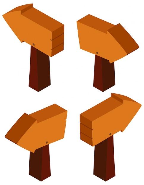 Disegno 3d per segno di legno scaricare vettori gratis for Disegno 3d gratis