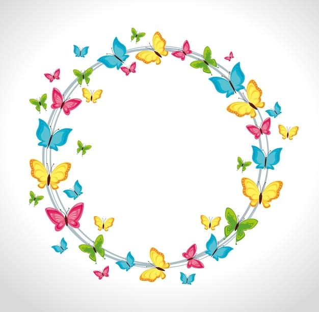 Disegno a farfalla Vettore Premium