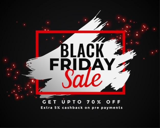 Disegno astratto banner di vendita venerdì nero Vettore gratuito