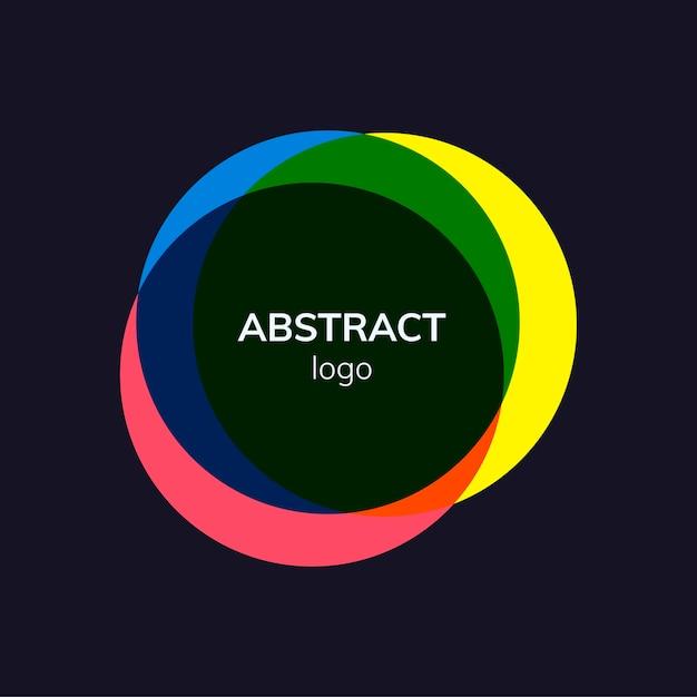 Disegno astratto colorato logo distintivo Vettore gratuito