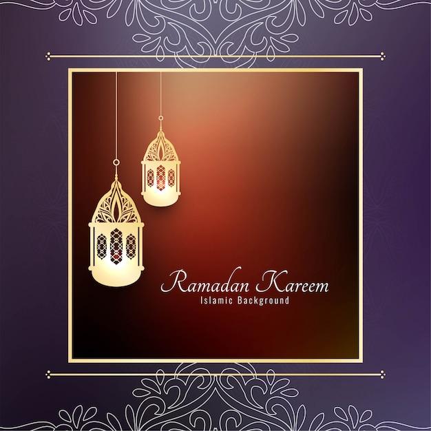 Disegno astratto del fondo islamico di ramadan kareem Vettore gratuito