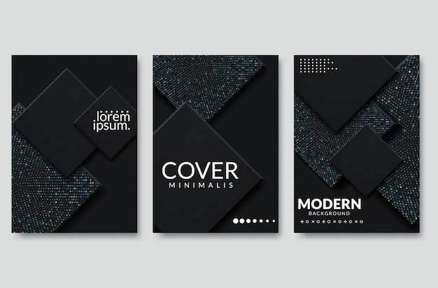 Disegno astratto della copertina del taglio della carta. illustrazione creativa di vettore Vettore Premium