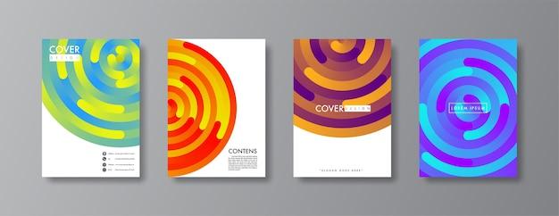 Disegno astratto di copertina e brochure. Vettore Premium