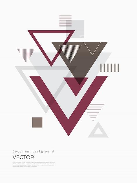 Disegno astratto geometrico Vettore Premium