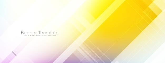 Disegno astratto luminoso colorato banner Vettore gratuito