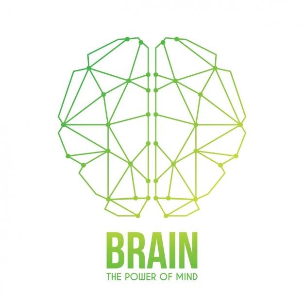 Disegno astratto sfondo cervello Vettore gratuito