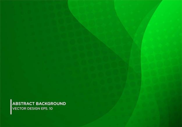 Disegno astratto sfondo gren con forma moderna concpet Vettore Premium