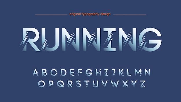 Disegno astratto tipografia affettata Vettore Premium