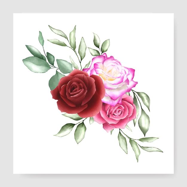 Disegno bouquet acquerello Vettore Premium