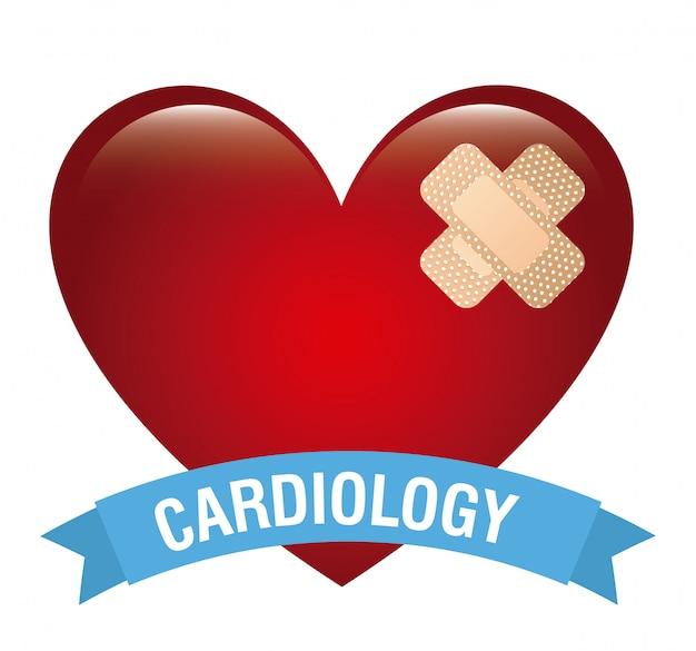 Disegno cardiologico Vettore Premium