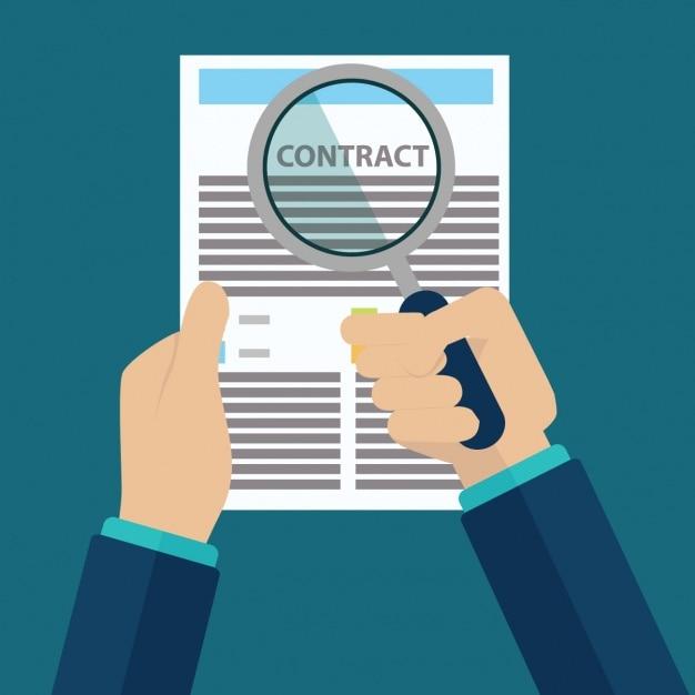 Disegno contratto di sfondo Vettore gratuito