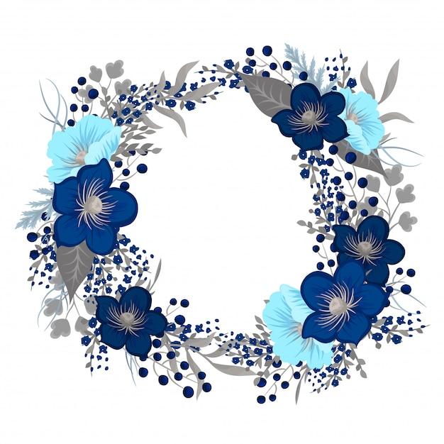 Disegno corona floreale Vettore gratuito