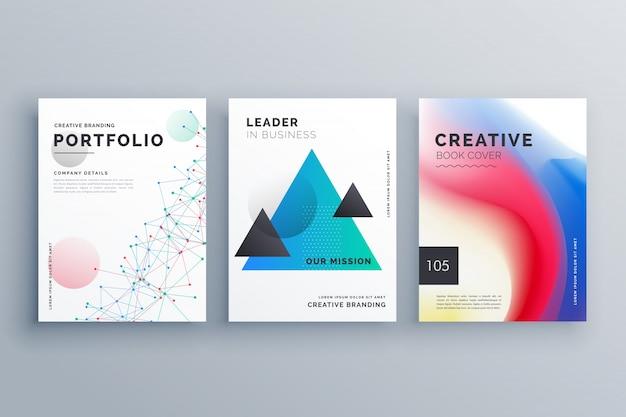 disegno creativo del brochure creativo formato in formato a4
