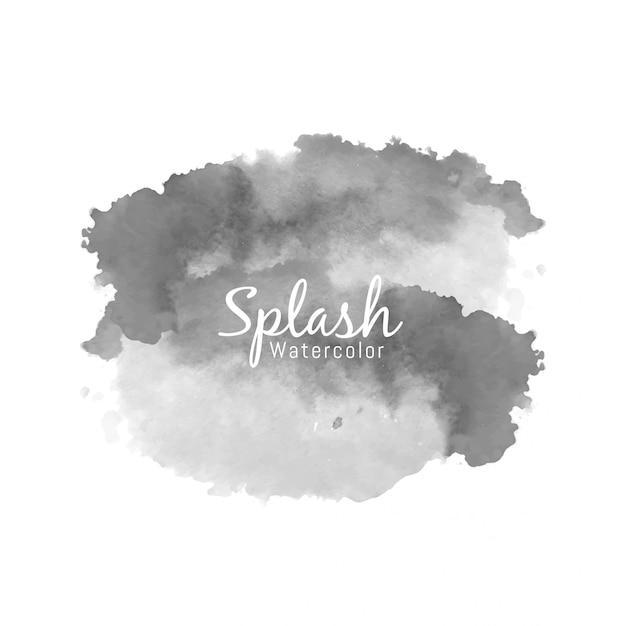 Disegno decorativo splash acquerello nero Vettore gratuito