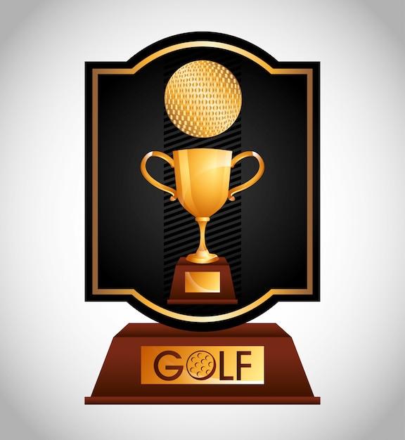 Disegno del campionato di golf Vettore gratuito