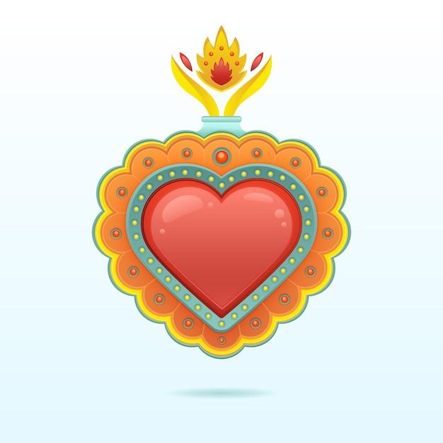 Disegno del cuore sacro Vettore gratuito
