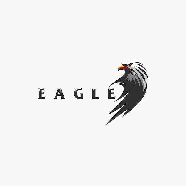 Disegno del logo dell'aquila Vettore Premium