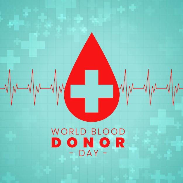Disegno del manifesto di evento internazionale di giorno di donazione di sangue Vettore gratuito