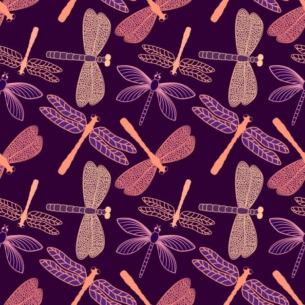Disegno del modello della libellula Vettore gratuito