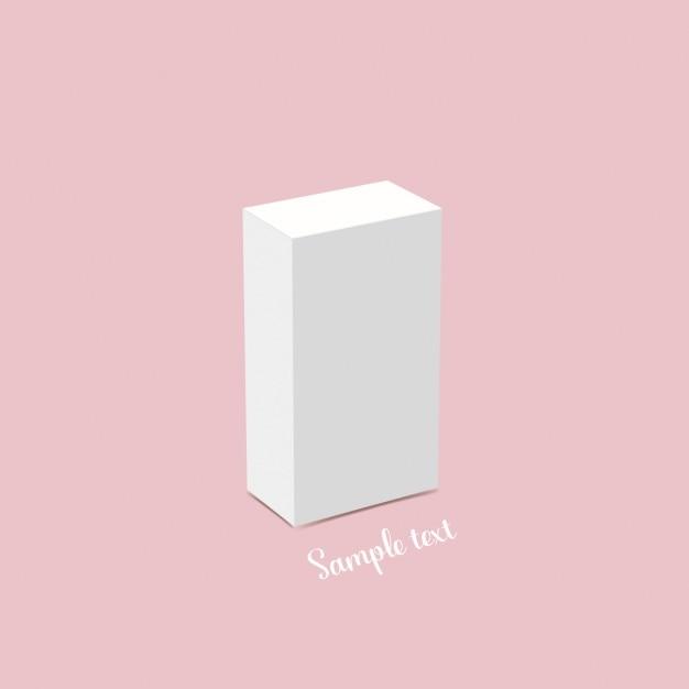 Disegno del modello della scatola bianca Vettore gratuito