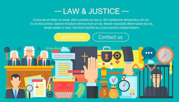 Disegno del modello di infographics di diritto e giustizia Vettore Premium