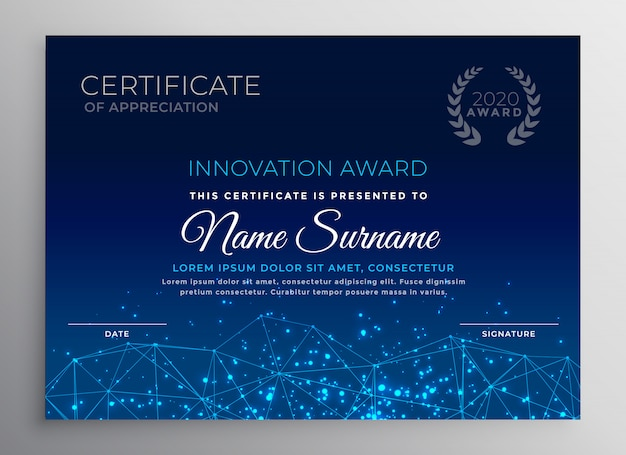 Disegno del modello di tecnologia di innovazione blu Vettore gratuito