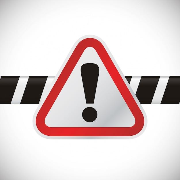 Disegno del segnale di avvertimento Vettore Premium