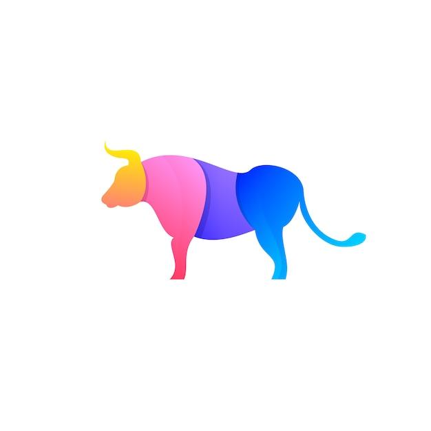 Disegno del toro Vettore Premium