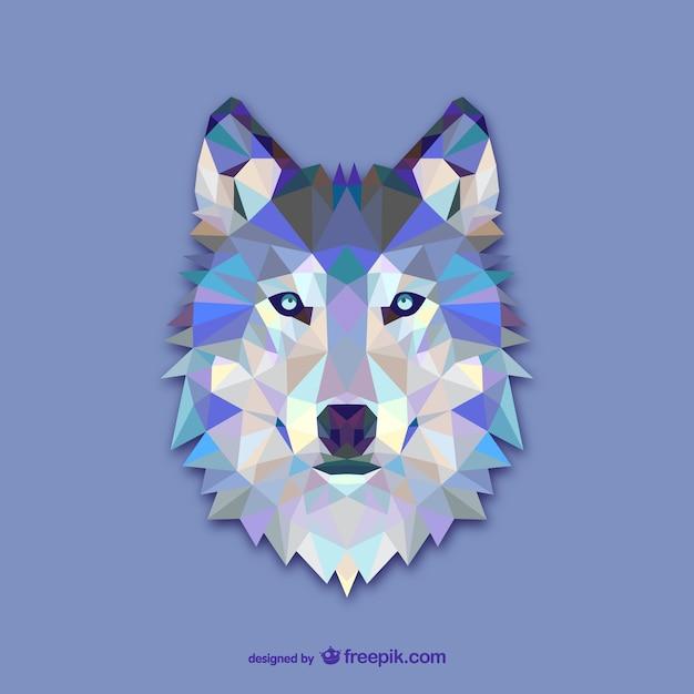 Disegno del triangolo lupo Vettore gratuito