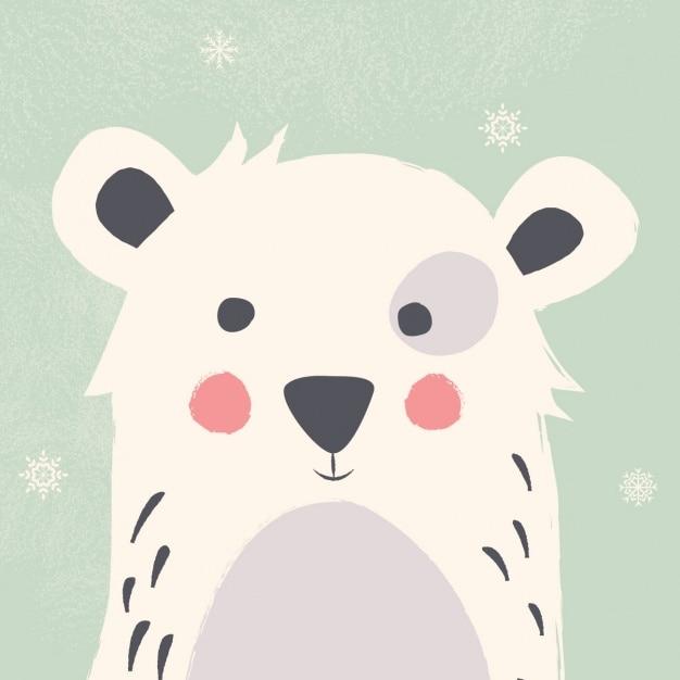 Disegno dell orso polare sfondo scaricare vettori premium