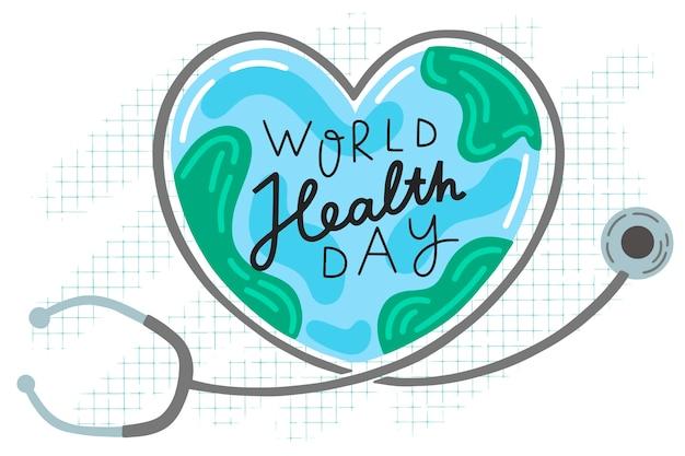 Disegno dell'evento della giornata mondiale della salute Vettore gratuito