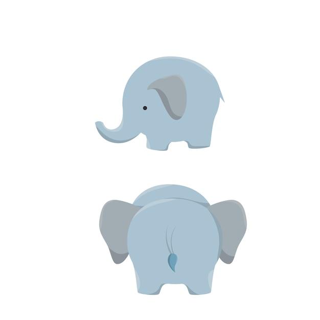 Disegno Dell Icona Dell Elefante Isolato Vettore Premium
