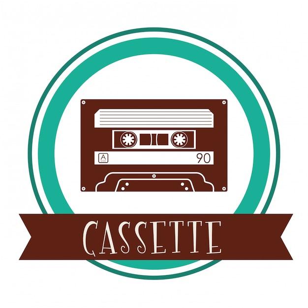 Disegno dell'icona di musica Vettore Premium