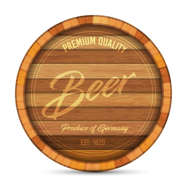 Disegno della birra logo Vettore gratuito
