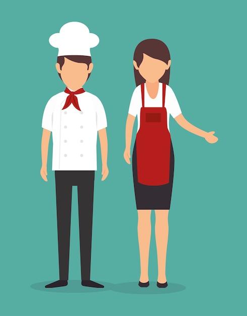 Disegno della cucina dello chef | Scaricare vettori Premium