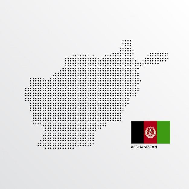 Disegno della mappa dell'afghanistan Vettore gratuito