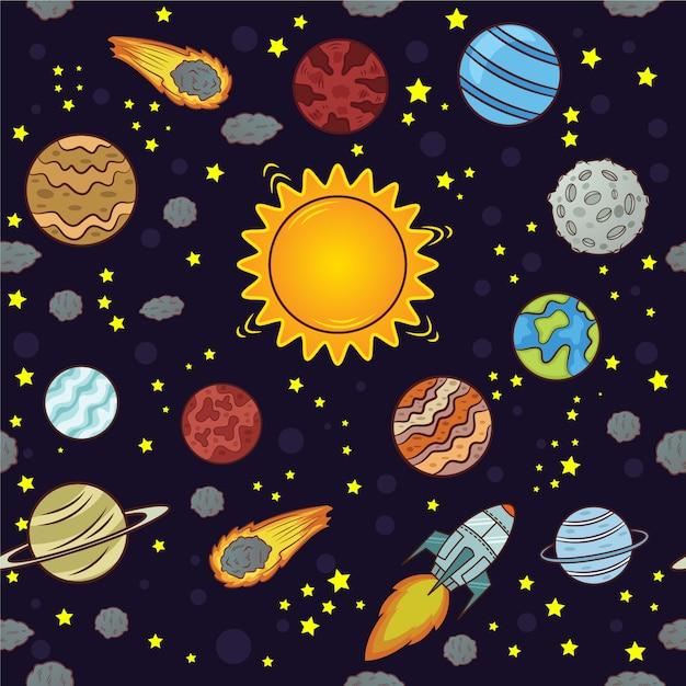 Disegno dello spazio Vettore gratuito