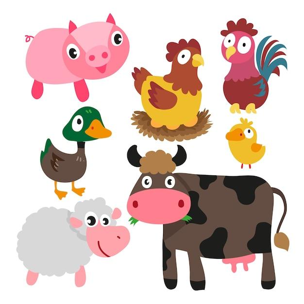 Disegno Di Caratteri Degli Animali Scaricare Vettori Premium