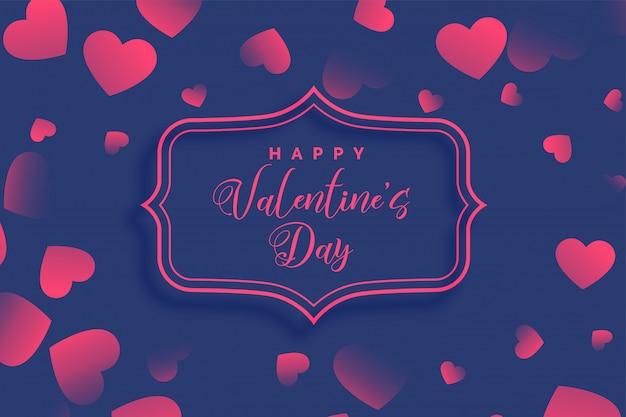 Disegno di cuori viola giorno di san valentino Vettore gratuito