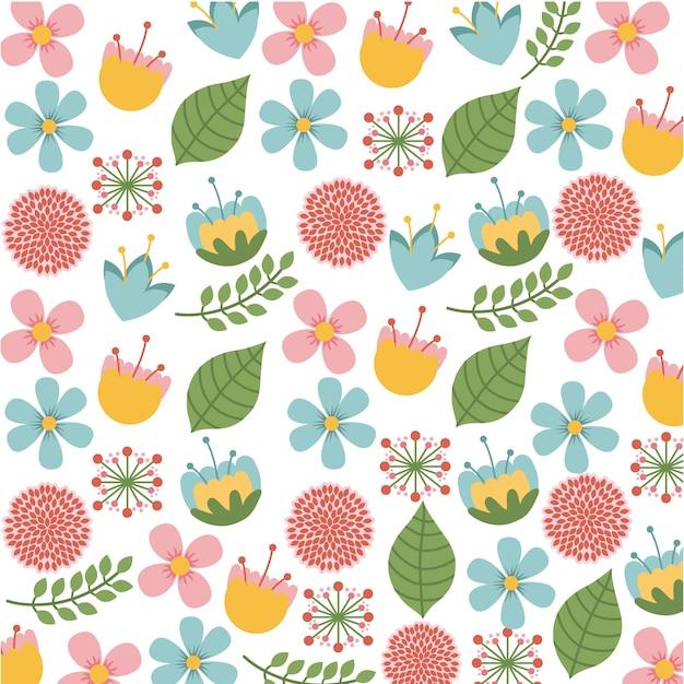 Disegno di fiori su sfondo bianco illustrazione vettoriale Vettore Premium