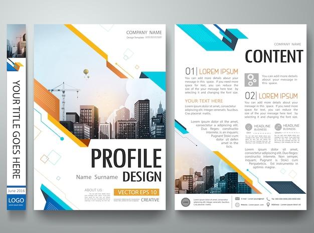 Disegno di layout di portfolio poster forma astratta. Vettore Premium