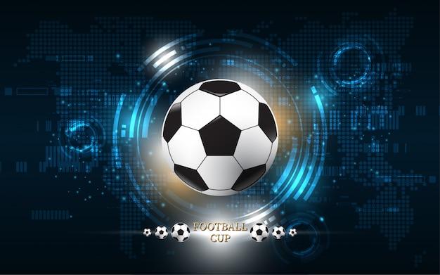 Disegno di pallone da calcio coppa del calcio Vettore Premium