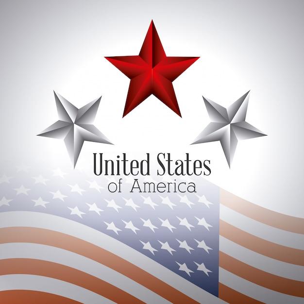 Disegno di patriottismo degli stati uniti. Vettore gratuito