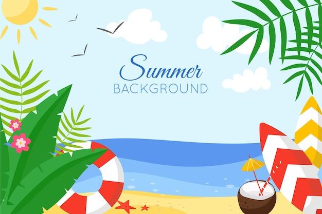 Disegno di sfondo colorato estate Vettore gratuito