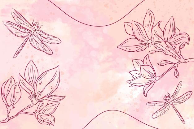 Disegno di sfondo con elementi disegnati a mano Vettore gratuito