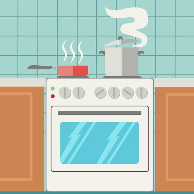 Disegno di sfondo cucina scaricare vettori gratis for Disegno cucina